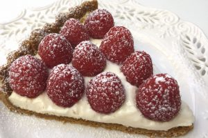 Raspberry Tart Slice