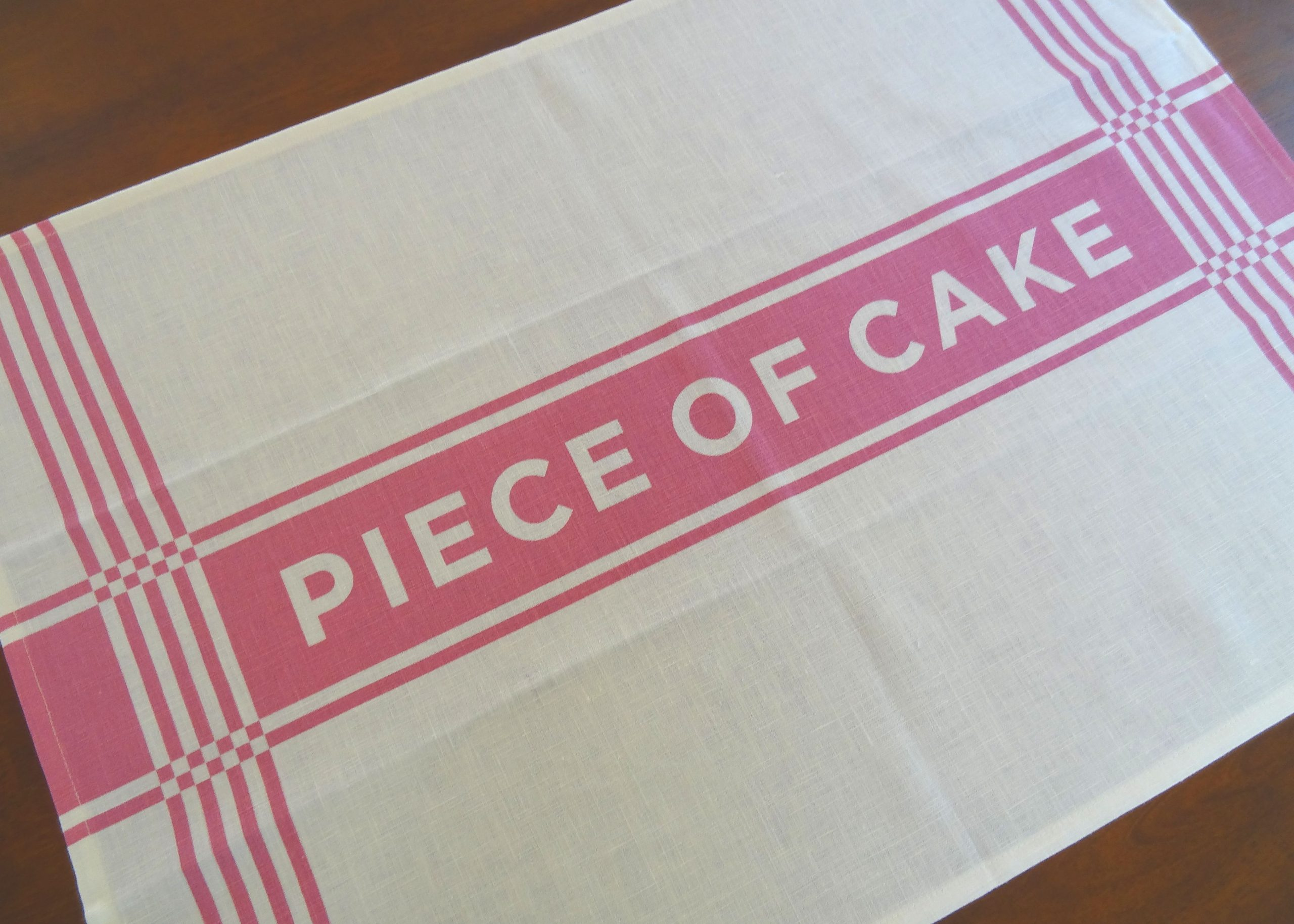 "Linen Tea Towel ""Piece of Cake"""