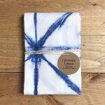 Tea Towel with Indigo design