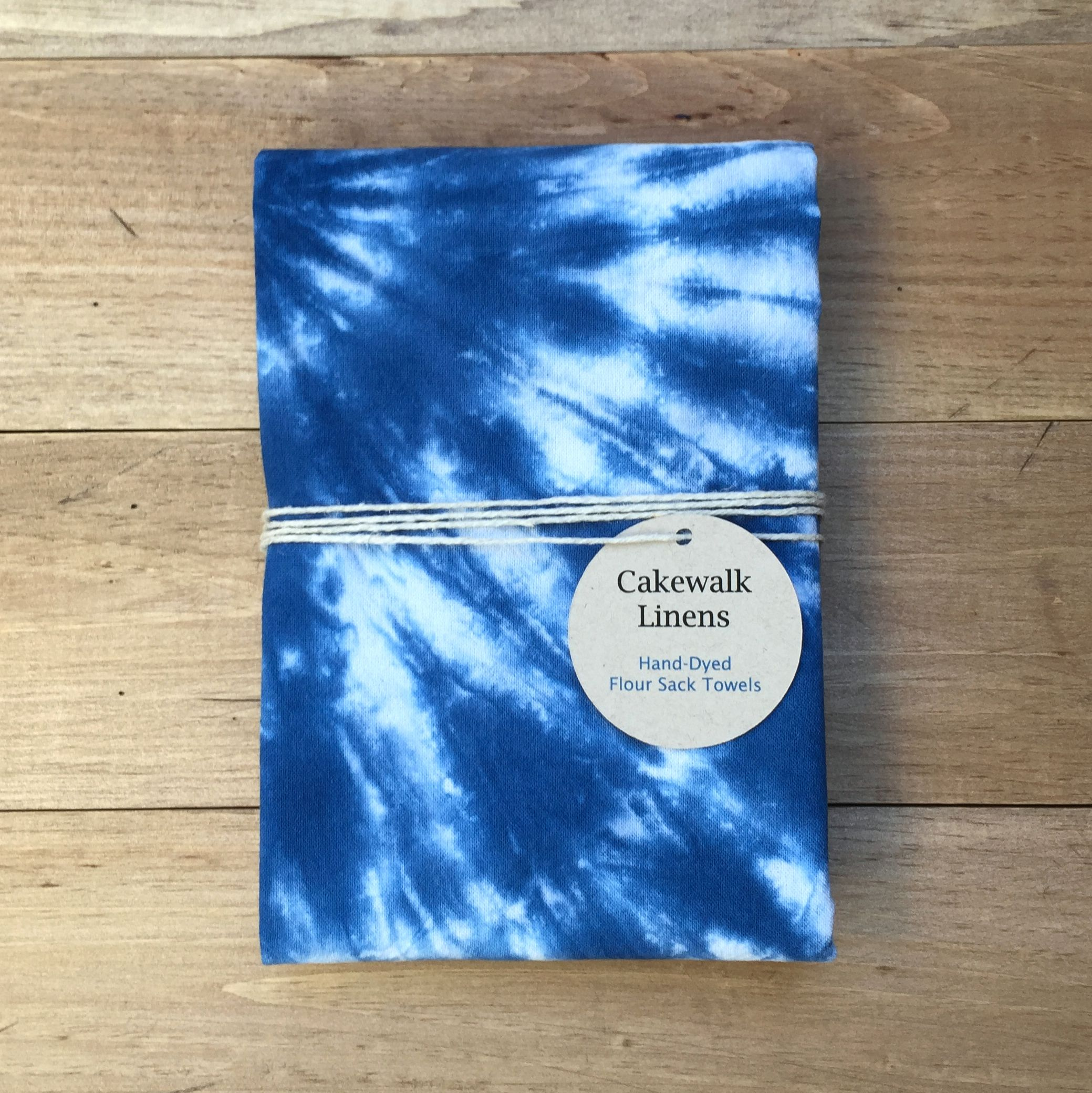 Tie Dye Tea Towel in Indigo