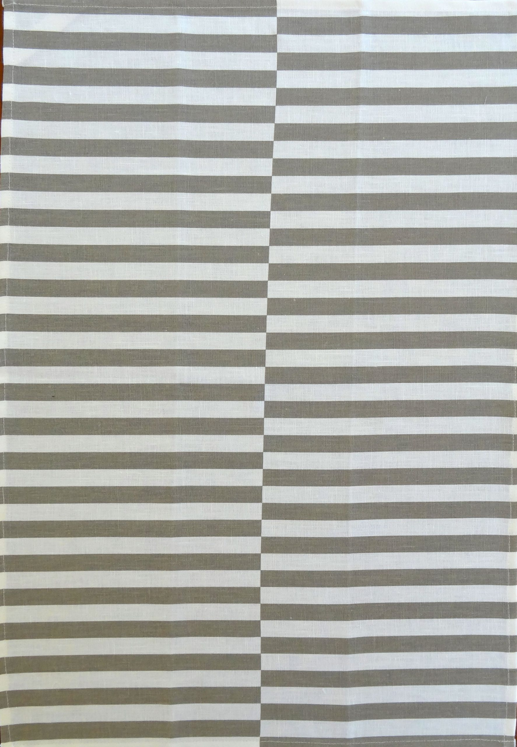 Linen Tea Towel with Gray Stipes