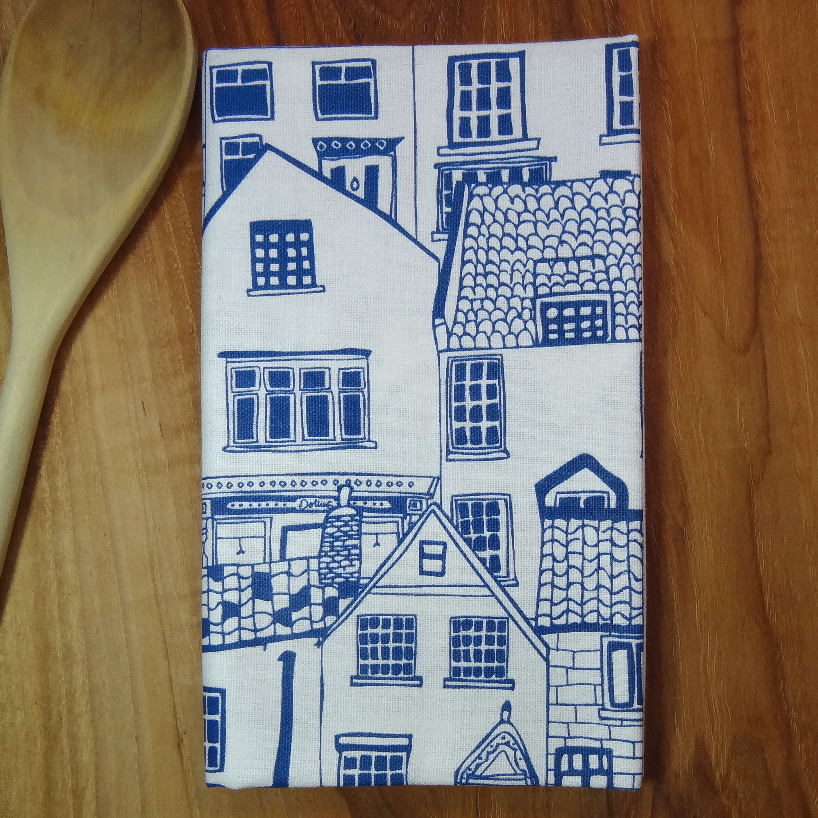 English Cottage Tea Towel