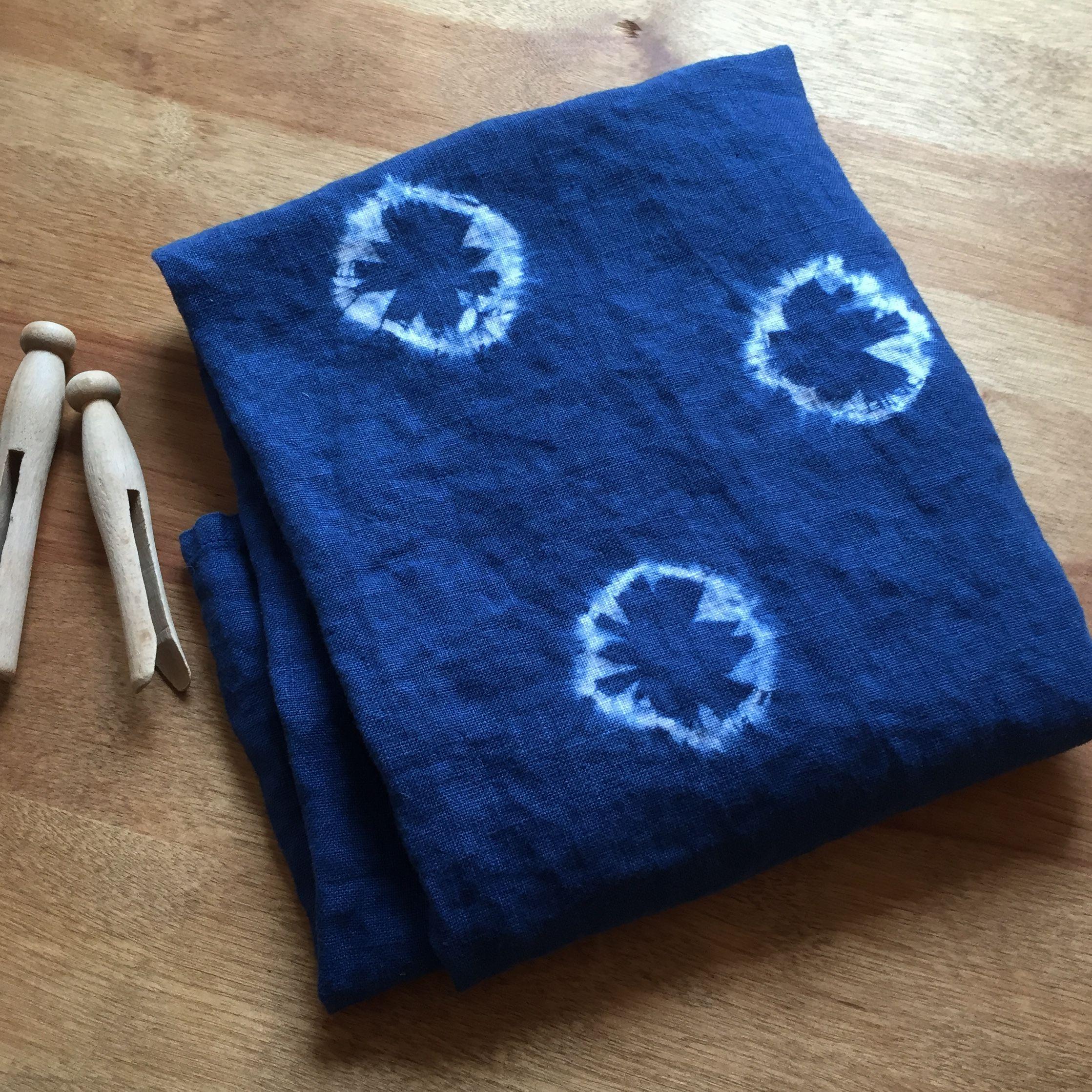 Indigo Linen Tea Towel