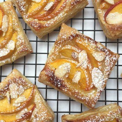 Peach Tarts with Almonds