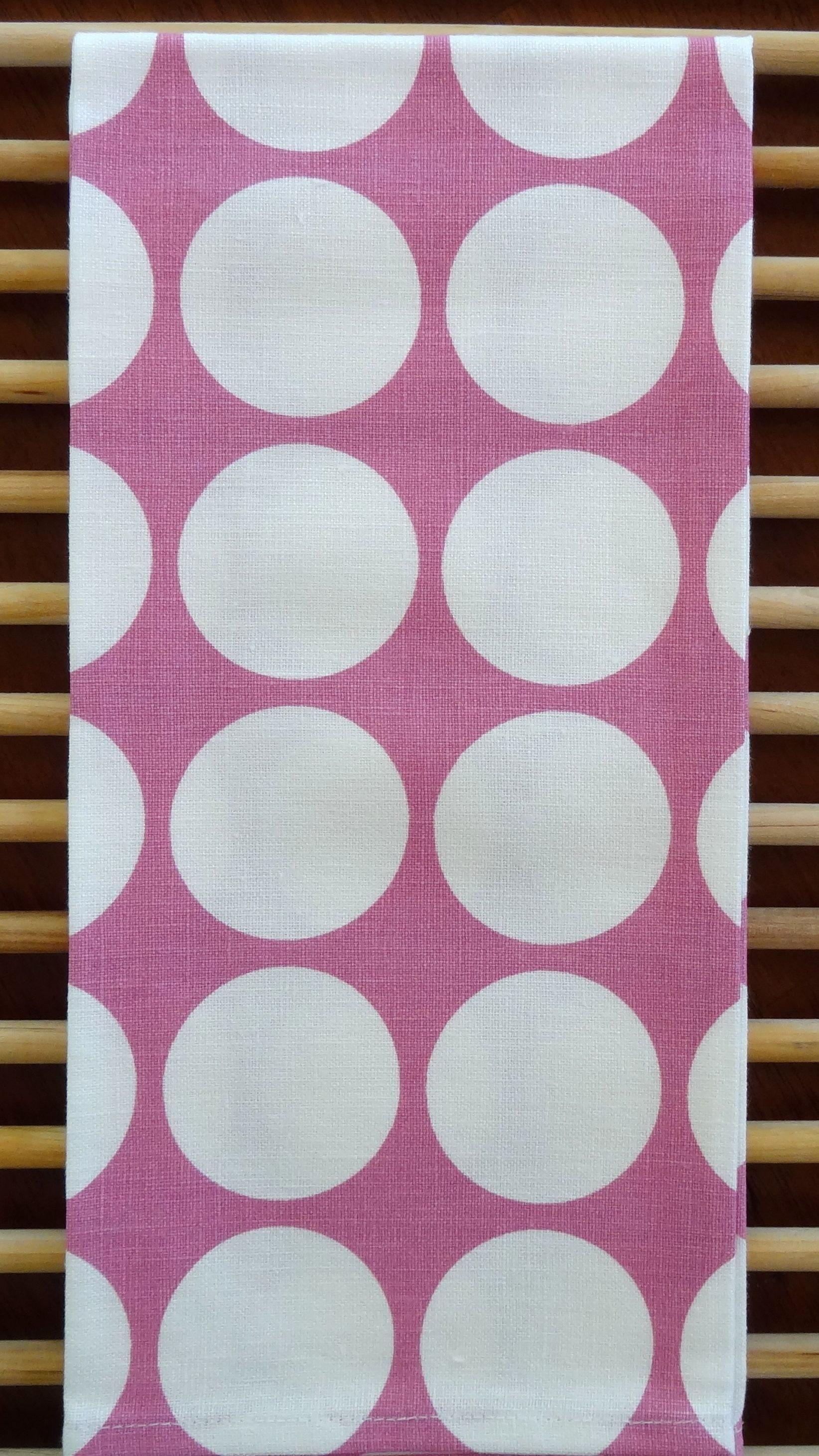 Pink Polka Dot Tea Towel