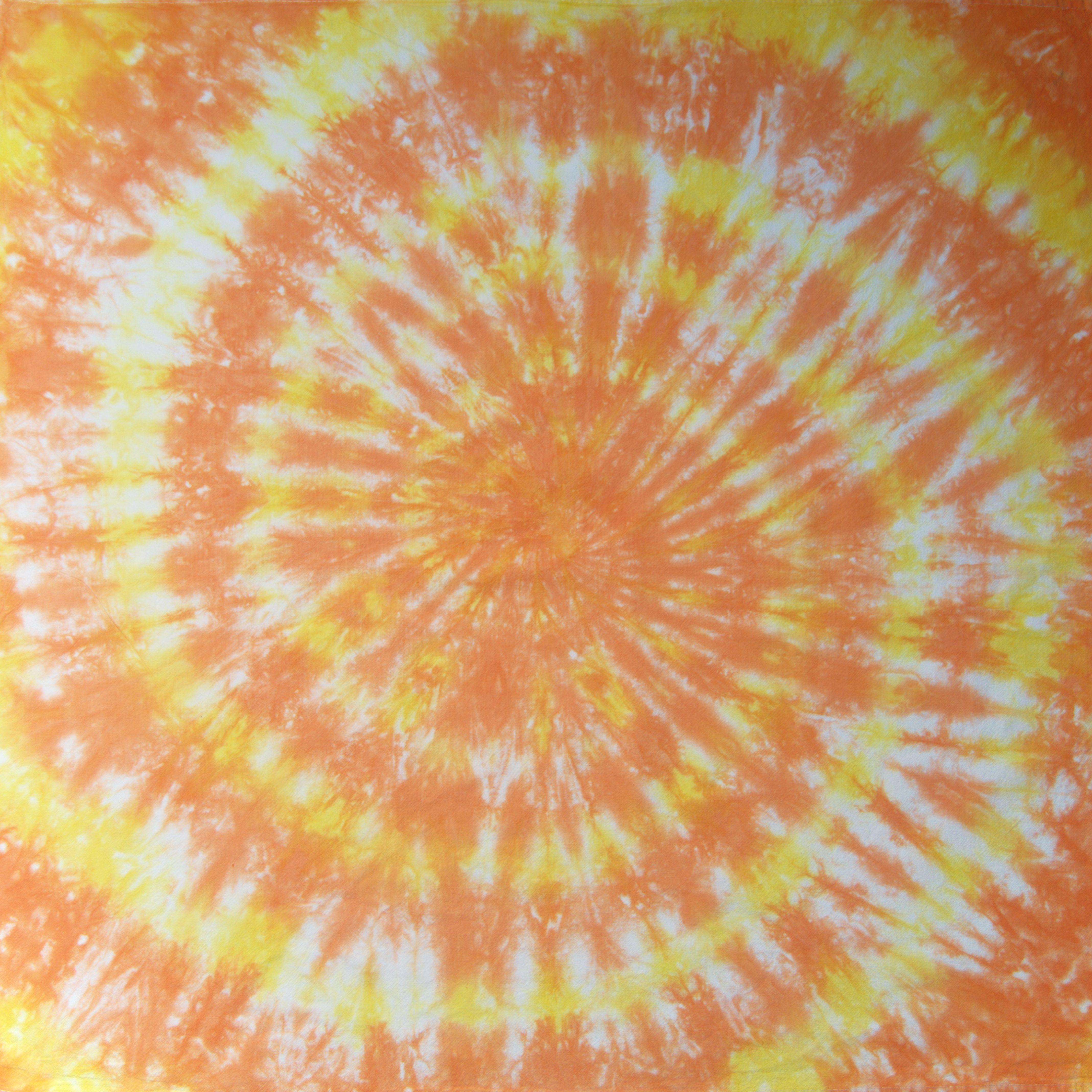 Tie Dye Spiral Design Towel