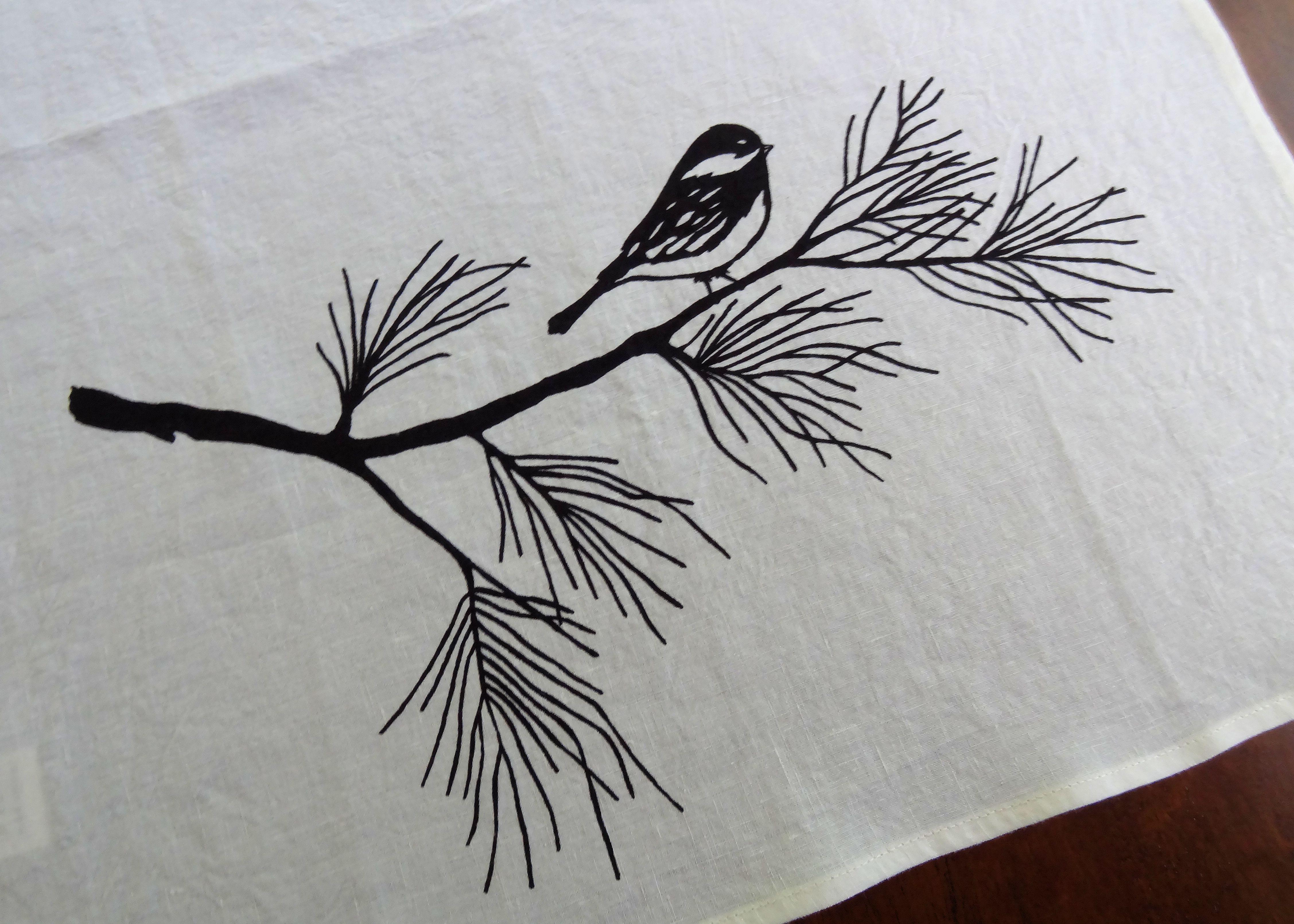 Chickadee Tea Towel