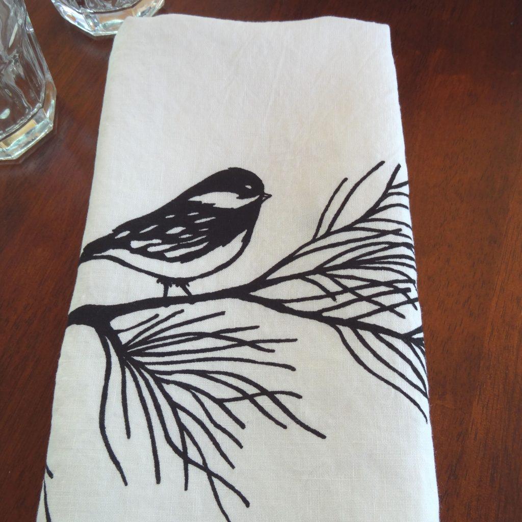 Chickadee Linen Tea Towel Cakewalk Kitchen