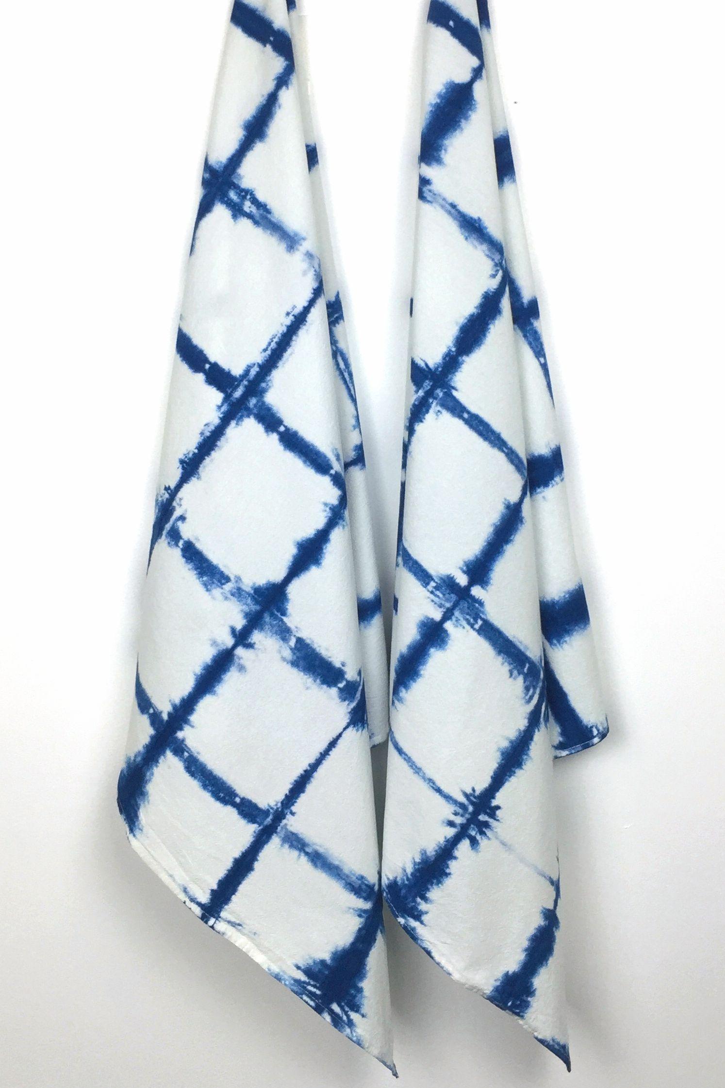 Indigo Shibori Tea Towel