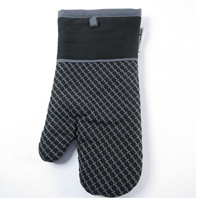 Black Oven Mitt by Kitchen Aid