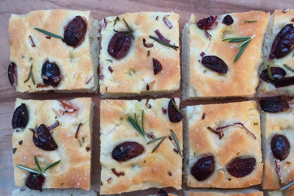Focaccia wit Olives and Rosemary