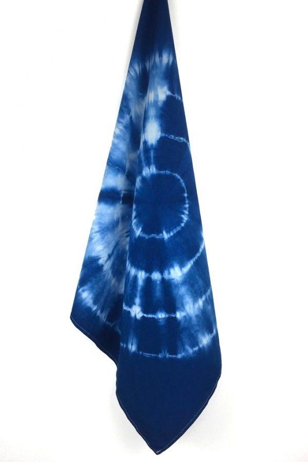 Indigo Tie Dye Kitchen Towel