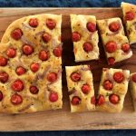 Focaccia with grape tomatoes