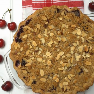 Cherry Crumb Pie with Almonds
