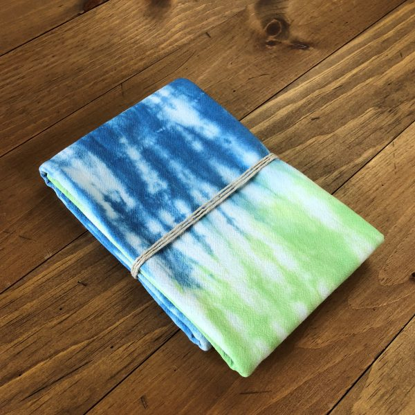 Blue and Green Flour Sack