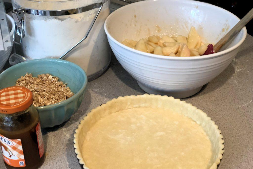 Making Apple Caramel Tart