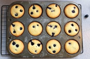 Lemon Blueberry Mini Cakes