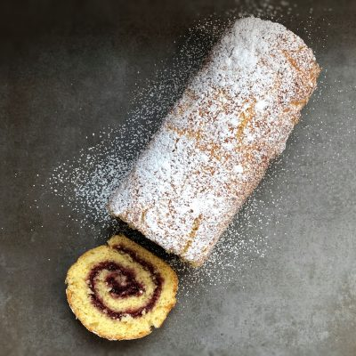 Raspberry Swiss Roll